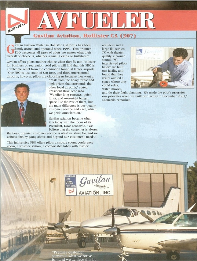 Gavilan Aviation Avfuel Article